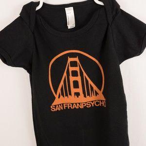 American Apparel Boy's Onsie San Franpsycho 18/24M